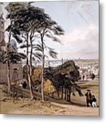 View Of London From Greenwich Park, 1842 Metal Print