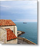 View Of Mediterranean In Antibes France Metal Print
