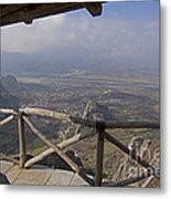 View Of Meteora From The Monastery   #9722 Metal Print