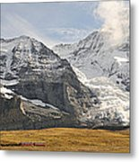 View Of Mt Eiger And Mt Monch, Kleine Metal Print