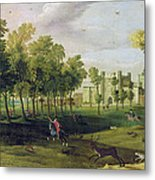 View Of Nonsuch Palace In The Time Metal Print