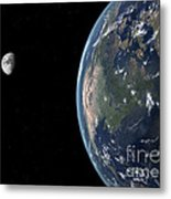 View Of North America With Rise In Sea Metal Print by Walter Myers