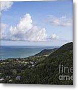 View Of Ocean And Punta Tuna In Puerto Rico Metal Print