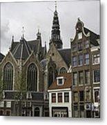 View Of Oude Kerk Amsterdam Metal Print