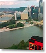 View Of Pittsburgh From Mt. Washington Metal Print