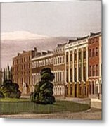 View Of Portman Square, North Side, 1816 Metal Print