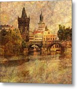 View Of Prague Metal Print