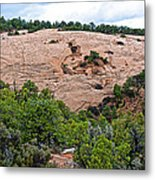 View Of Rock Dome Surface From Sandal Trail Across The Canyon In Navajo National Monument-arizona Metal Print