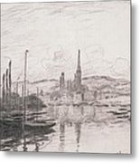 View Of Rouen Metal Print