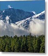 View Of San Juan Mountains With Clouds Metal Print