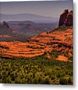 View Of Sedona From The East Metal Print