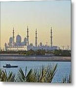 View Of Sheikh Zayed Grand Mosque Metal Print