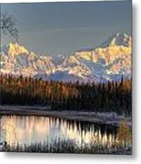 View Of Southside Mount Mckinley And Metal Print