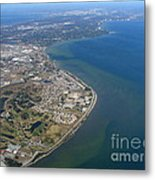 View Of Tampa Harbor Before Landing Metal Print