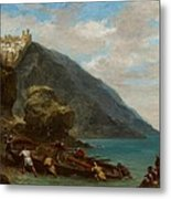 View Of Tangier From The Seashore Metal Print