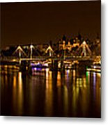 View Of Thames River From Waterloo Metal Print