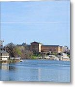 View Of The Art Museum And Waterworks In Philadelphia Metal Print