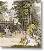 View Of The Cascade At Erlaw, Vienna Metal Print