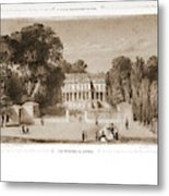 View Of The Castle, Paris And Surroundings Metal Print
