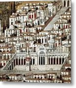 View Of The City De Damascus, Syrian Metal Print