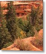 View Of The Cliffs From The Cliff Metal Print