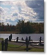 View Of The Creek From Catskill Point Metal Print