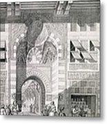 View Of The Door Of Okal Kaid-bey Metal Print