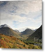 View Of The Glencoe Mountains Metal Print