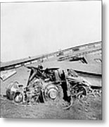 View Of The Great Railroad Wreck Metal Print