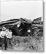 View Of The Great Railroad Wreck, The Metal Print
