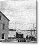 View Of The Harbor Metal Print