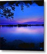 View Of The Night Lake Metal Print