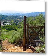 View Of The Ojai Valley Metal Print