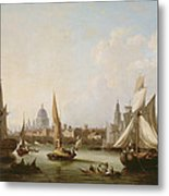 View Of The River Thames  Metal Print