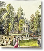 View Of The Temple Of Diana At Erlaw Metal Print