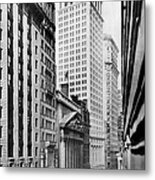 View Of Wall Street Metal Print