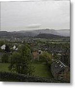View Of Wallace Monument And Houses And Surrounding Areas Metal Print