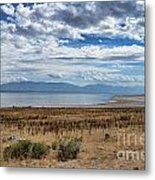 View Of Wasatch Range From Antelope Island Metal Print