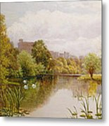 View Of Windsor From The Thames Metal Print by John Atkinson