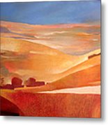 View Oil On Canvas Metal Print