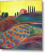 View On The Olive Grove Metal Print