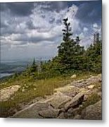 View On Top Of Cadilac Mountain In Acadia National Park Metal Print