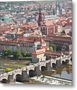 View Onto The Town Of Wuerzburg - Germany Metal Print