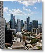View Over Brickell Miami Metal Print