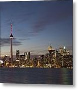 View Over Lake Ontario Of The Downtown Metal Print
