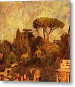 View Over The Forum In Rome Metal Print