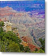 View Seven From Walhalla Overlook On North Rim Of Grand Canyon-arizona Metal Print