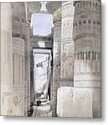 View Through The Hall Of Columns Metal Print