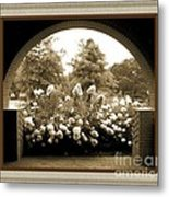 View To The Garden Metal Print