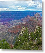 View Two From Walhalla Overlook On North Rim Of Grand Canyon-arizona Metal Print